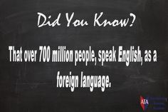 TESOL ESL [ English Facts ] 700 Million People