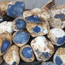chalcedony.  I've seen this stone mostly sold and called Angelite.