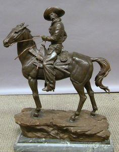 Henry Bonnard Bronze Co. Bronze Cowboy on Horseback Sculpture Horse Sculpture, Bronze Sculpture, Cowboy Art, Indian Paintings, Old West, Western Art, Fine Art Gallery, Recherche Google, Sculptures