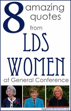 8 amazing quotes from LDS women at General Conference | Aggieland Mormons -- I'm quite pleased that Chieko Okazaki is featured twice in this list. #ChiekoOkazakiFangirl (Bonnie Oscarson is also featured twice ... one quote is from her Facebook page, not a Conference talk ... but it's still really good.)