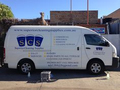 High quality vinyl stickers applied to the sides of a van for Superior Cleaning Supplies. All artwork designed by our designs, installed in house with Sign A Rama staff.