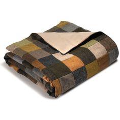 The Genuine Irish Tweed Patchwork Throw - Hammacher Schlemmer #HammacherHolidays