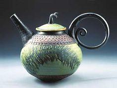Beautiful handmade teapot.  Makes me wanna learn how to throw clay!