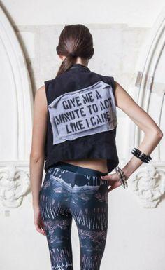 #Fashion #leggings #Dreamer <3 Give me a minute to act like I care #jacket..