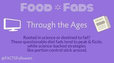 Food Fads Through the Ages [INFOGRAPHIC]