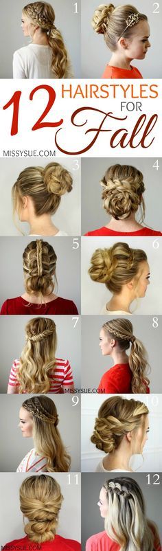 Looking for a hairstyle to go with your new fall look? Check out these beautiful and unique ideas!