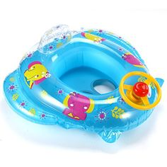 Surepromise Inflatable Baby Swim Float Floater Car Child Safety Seat Aid Trainer Toddler Cartoon Water Fun Toy >>> You can find out more details at the link of the image.Note:It is affiliate link to Amazon.