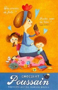 Carte Amandine Piu  Chocolat Poussain