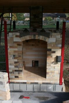"White Oak Pottery; backyard kiln build — Here's RUBY!...""Recycled Used Brick Y'all""."