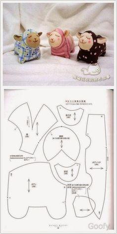 Paps,Moldes,E.V.A,Feltro,Costuras,Fofuchas 3D: Idéias de Revistas Japonesas