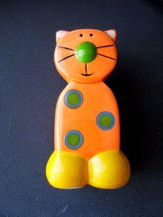 Pottery Cat Piggy Bank | eBay