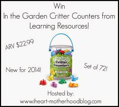 IHeart-Motherhood: Learning Resources In the Garden Critter Counters Review and Giveaway