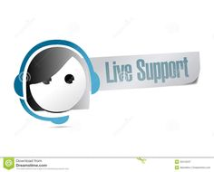 Live Support Illustration Design - Download From Over 53 Million High Quality Stock Photos, Images, Vectors. Sign up for FREE today. Image: 33412247