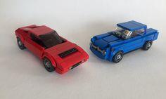 Lego Maserati Merak & AlfaRomeo Giulia Saloon - 01