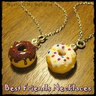 Donuts best friend necklaces :)!