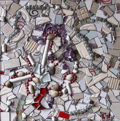 White by Cristina-Mary Buzamet Mixed Media, Greeting Cards, Mary, Wall Art, Mixed Media Art, Wall Decor