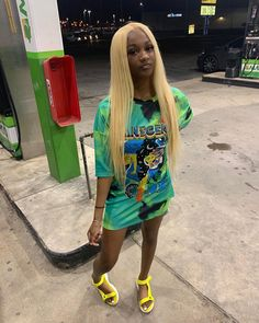 Customized(定制)hot sell pure blonde straight full lace wig/front lace wig lace wig with natural hairline and baby hair for Swag Outfits For Girls, Cute Swag Outfits, Cute Comfy Outfits, Sexy Outfits, Pretty Outfits, Girl Outfits, Summer Outfits, Fashion Outfits, Fashion Tips