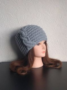 1ae32a83771 Luxury Alpaca Hat - Women Hat - Cable Hat - Winter Chunky Hand Knit - Cable  Knit Beanie - ARISTOCRATS hat for women - Wool hat - Bobble hat