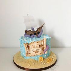 Pirate cake, Pirat, Piraten, Boy, Boys cake, sea, ship, treasure map, Kuchen, Torte