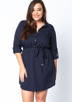 Button up shirt dress plus size