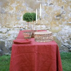 For the Hostess: at Terrain. Just add some twinkle, and your table is set!