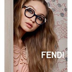 #Gigihadid for Fendi Eyewear SS17 photographed by Karl Lagerfeld