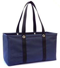"MDM Large Utility Tote Bag, Organizer, Laundry Bag ""Navy Blue"