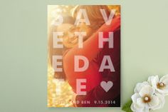 Etched Save the Date Cards by jackmove at minted.com