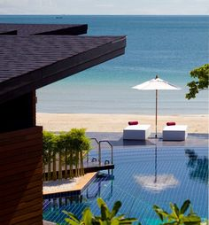 Pool and Beach - Aava Resort & Spa, Khanom, Thailand Outdoor Water Features, Pool Fountain, Beautiful Pools, Pool Houses, Luxury Villa, Resort Spa, Pond, Indoor, Patio