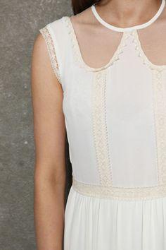 Little White Lies Erin Lace Mesh Collar Dress