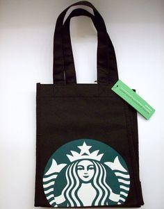 b0b55e65a507 Starbucks Green White Siren Reusable Black Lunch Tote Gift Bag 2011 Rare  HTF NEW  Starbucks