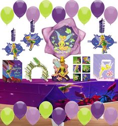 FANCY FAIRY Birthday Party Supply Pack Kit w//Plastic Cups,Napkins,Invites /& Bags