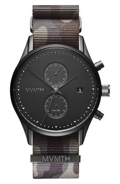 MVMT Voyager Chronograph NATO Strap Watch, 42mm available at #Nordstrom