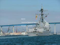 USS Dewey and the Coronado Bay Bridge - San Diego, California