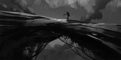A very lonely depiction of this brave soul travelling through the forest Heart Projects, Environment Concept, Lonely, Brave, Travelling, Concept Art, Gaming, Conceptual Art, Videogames