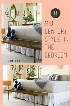 A Mid Century Bench for the Bedroom - Homeology Modern Vintage