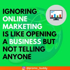 The quote is well said and it's quite true. Any business needs recognition, exposure, and visibility. Otherwise, your business may not achieve the desired growth and exposure. Mail Marketing, Marketing Quotes, Digital Marketing Services, Content Marketing, Online Marketing, Social Media Marketing, Seo Analysis, Opening A Business, Website Services
