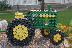 Tractor made from pop cans