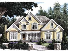 New American House Plan with 3434 Square Feet and 4 Bedrooms from Dream Home Source | House Plan Code DHSW05752