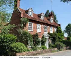 English Village House with Pantiled wall and garden