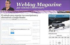 Desde Agosto de 2009 publico un blog en la sección Medios de ABC.es. En los Premios Bitacoras.com 2010, este blog finaliza en cuarta posición en la categoría Mejor Blog Tecnológico.