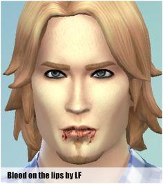 Lightfire Simblr: Blood on lips • Sims 4 Downloads