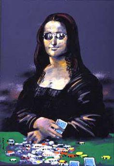 Poker Face Mona Lisa
