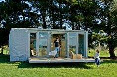 Container homes: Portable shipping container holiday home, New Zealand prefabcontainerhomes.org