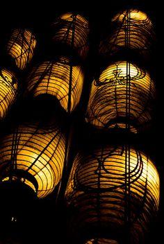 Japanese lanterns for Kyoto Gion Festival 祇園祭 京都
