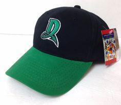 new DAYTON DRAGONS HAT Black/Green Letter-D Cincinnati Reds Minor League ADULT #Signatures #DaytonDragons