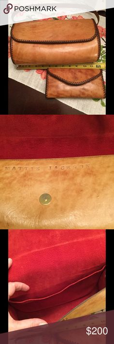 Vintage Messenger Bag w/ Bonus Wallet In excellent condition and very old, possible antique.  It has a matching wallet.  Long, adjustable, cross-body strap, red leather-suede interior in the bag.  All leather and in fine condition. Bags Crossbody Bags