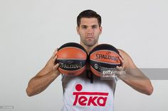 ...._Felipe Reyes #9 of Real Madrid poses during the 2015/2016 Turkish Airlines Euroleague Basketball Media Day at Polideportivo Valle de Las Casas on October 6, 2015 in Madrid, Spain.