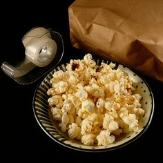 DIY Microwave Popcorn - without the price tag or added butter!  Blown away that this really works!  ★1/4 cup popcorn in bron paper bag.  ★Fold top & tape bag up.  ★Nuke for 2-3 mins or when til the popping starts to reduce.  ★Add own level of butter salt flavoring  Quick afternoon snack for the kiddies! #kidscooking #cooking