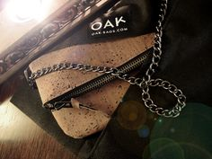 Chocolate brown cork clutch by OAK BAGS. Perfect vegan gift!